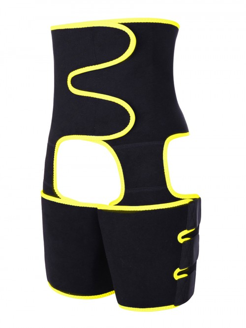 Wholesale Body Shapers Yellow Neoprene Elastic Abdominal Control