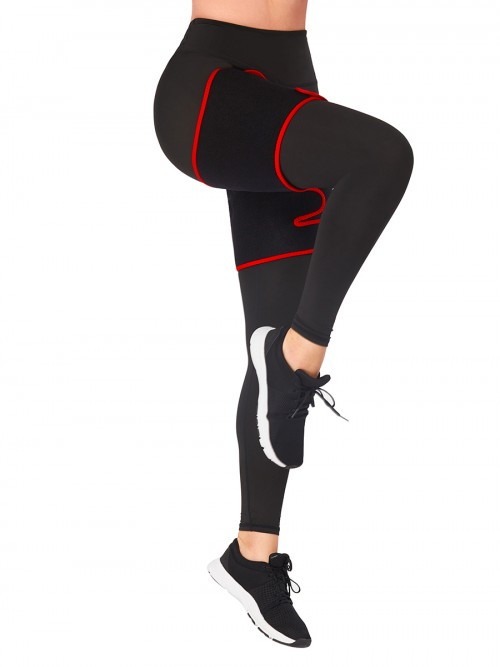 Thigh Slimmer Wraps Red Adjustable Sticker Neoprene Smooth Silhouette