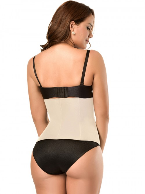 Neoprene Premium Plus Size Nude Waist Trimmer 6 Steel Bones