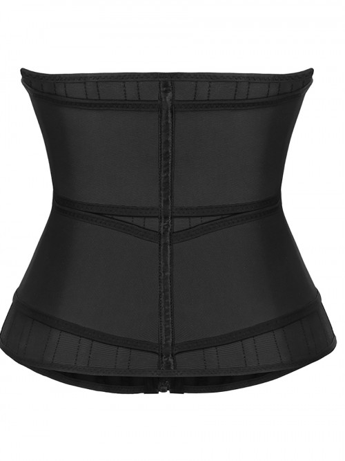 Higher Power Black 25 Steel Stoned Latex Waist Trainer With Sticker