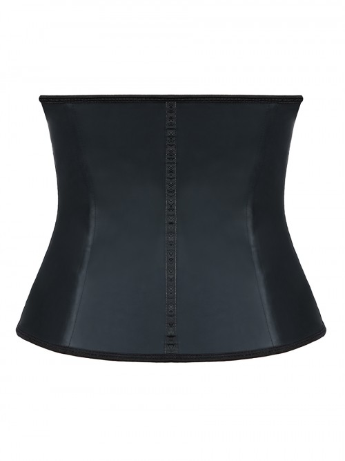 Abdominal Slimmer Black Latex 9 Steel Bones Waist Trimmer Big Size