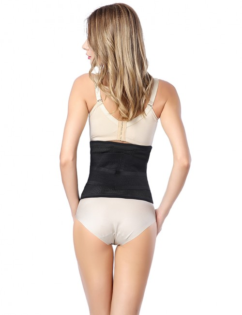Unisex Sticker Closure Flat Waist Cincher Belt Back Support
