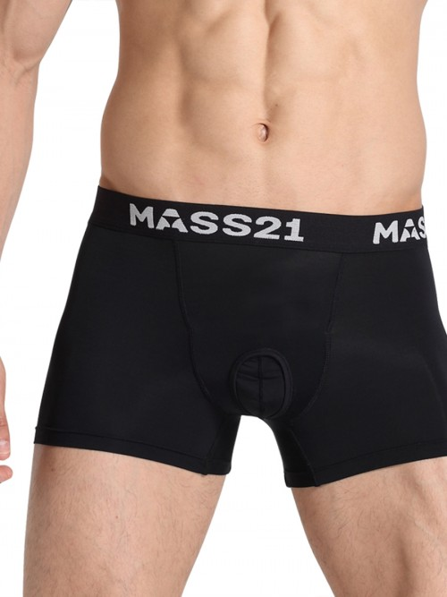 Elaborate Black Boxer Briefs High Stretch Letter Male's High Grade