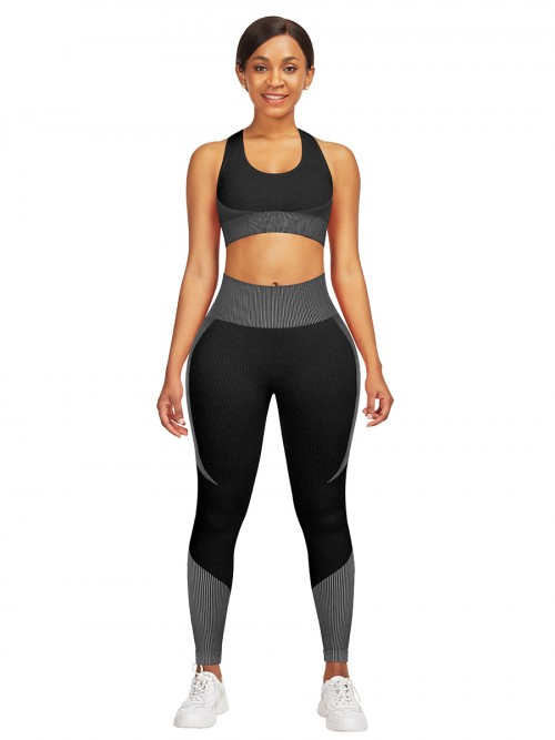 Seamless Cross Ladies Gym Sets Ankle Length For Women Runner
