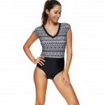 Removable Padded One Piece Plus Size Beach Wear For Beauty