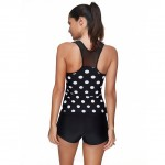 Attractive Simply Polka Dot Plus Size Swimsuit Coverups Sport Tanks