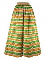 Plus Size African Wide Pants Elastic Waist