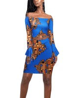 Off Shoulder Top African Print Mini Length Skirt