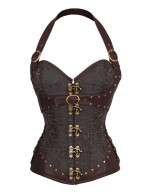Chic Online 12 Steel Bone Black Overbust Rivet Decor Corset