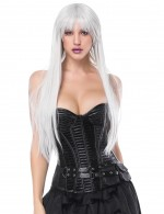 Irresistibly Black 14 Plastic Bones Overbust Corset With Pocket Figure Slimmer