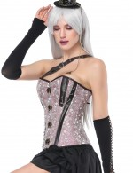 Hot Sale Light Pink 14 Plastic Boned Overbust Corset Studs Perfect