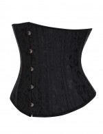 Strengthen Black 26 Steel Bones Jacquard Plus Size Corsets And G-String Body-Hugging