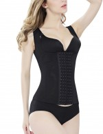 Haute Contouring Large Black Slimming Camisole With 6 Steel Bone