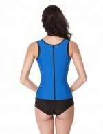 Sexy Plus Blue Latex Waist Trainer Vest Superfit Everyday
