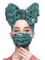 Striking African Pattern Headscarf Dust-Free Mask Female Charm
