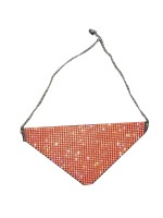Fitted Orange Reusable Adjustable Buckle Glitter Mask