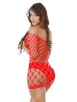 Free Cozy Red Mini Length One Shoulder Teddy Super Comfort