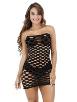 Hot Trendy Black Bandeau Teddy Strapless Hollow Out Ultra Sexy
