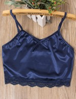 Blue Lace Sling Big Size Backless Sleepwear Set Tie Beautiful Addition