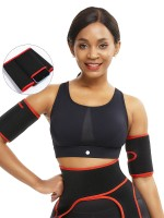Red Neoprene 2 Pcs Arm Trimmers With Pockets Arm Shaper