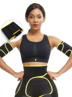 Yellow Adjustable Sticker Neoprene Arm Shaper For Weight Loss