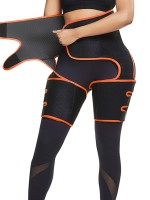 Orange High Waist Neoprene Shapewear For Thighs Weight Loss
