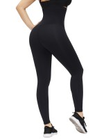 Black Hooks Waist Trainer Shapewear Leggings Figure Slimmer