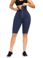 Dark Blue Anti-Slip Strip Midi Length Butt Lifter For Fitness
