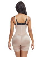 Skin Zipper Plus Size Detachable Straps Body Shapewear Flatten Tummy