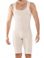 Perfect-Fit Nude Large Size Male Bodysuit Shapewear Boyshort Potential Reduction