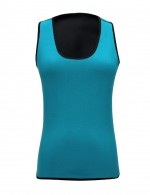 Blue Scoop Neck Queen Size Neoprene Shaper Tight Fitting