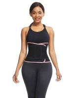Pink Neoprene Waist Cincher Shapewear 6 Steel Bones Fat Burning
