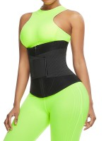 Black Neoprene Zipper Waist Trainer 10 Steel Bones Slimming Tummy