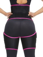 Rose Red Neoprene Thigh Shaper High Waist Sticker Fitness