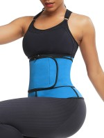 Compression Silhouette Blue Big Size Neoprene Waist Trainer Front Zipper