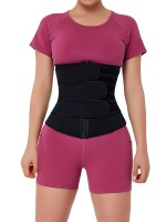 Black Three Belt Neoprene Waist Trainer Big Size Natural Shaping