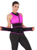 Rose Red Double-Belt Neoprene Waist Shapewear Vest Fat Burning