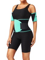 Light Green Neoprene Color Block Waist Trainer Medium Control (Waist Trainer Only)