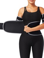 Reflective Light Gray Neoprene Waist Trainer With Sticker High Quality