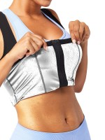 Sweat Top Silver Neoprene High Back Strap Moderate Control