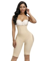 Magic Skin Color Button Tab Full Body Shaper Solid Color Light Control
