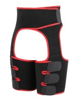 Red Neoprene Thigh Trainer 2-In-1 Adjustable Waist Shapewear