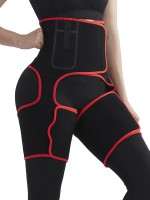 Slimming Tummy Red High-Waist Thigh Trimmer With Pocket Leisure Fashion