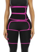 Rose Red Workout Neoprene Lose Fat Waist Trainer Thigh Shaper