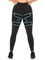 Light Green Neoprene Thigh Trimmer Sweat Increase High-Compression