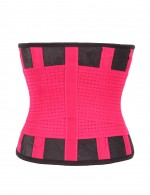 Sweat Band Gym Weight Loss Rose Red Tummy Slimming Shapewear Belt