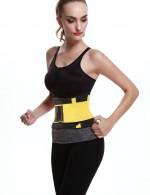 Yellow Slimming Stomach Neoprene Waist Trimmer Adjustable Compression Curve Shaper
