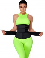 Black Three Belts Latex Waist Trainer Big Size Highest Compression