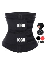 Black Big Size Slimming Tummy Latex Waist Trainer Weight Loss