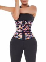 Fitness Camo Print Latex Waist Trainer Sling-Belt Breathability